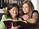 women reading bible